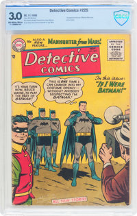 Detective Comics #225 (DC, 1955) CBCS GD/VG 3.0 Off-white to white pages