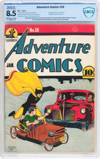Adventure Comics #58 (DC, 1941) CBCS Apparent VF+ 8.5 Moderate (P) Off-white to white pages