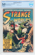 Golden Age (1938-1955):Science Fiction, Strange Worlds #3 Canadian Edition (Avon, 1951) CBCS VG/FN 5.0Off-white to white pages....