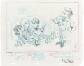 "Music Memorabilia:Original Art, Beatles -- An Original Pencil Drawing by Frank Andrina from ""TheBeatles"" Animated Cartoon Television Series...."