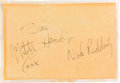 Music Memorabilia:Autographs and Signed Items, Jimi Hendrix, Noel Redding, and Mitch Mitchell Set of Signatures(Circa 1968)....
