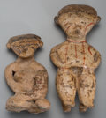 Pre-Columbian:Ceramics, Two Nayarit Chinesco Figures. c. 200 BC - 200 AD... (Total: 2Items)