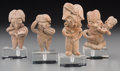 Ceramics & Porcelain:Pre-Columbian, Four Chupicuaro Miniature Figures. c. 500 - 100 BC. ... (Total: 4 Items)