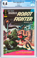 Bronze Age (1970-1979):Science Fiction, Magnus Robot Fighter #36 White Mountain Pedigree (Gold Key, 1974) CGC NM 9.4 White pages....
