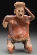 Pre-Columbian:Ceramics, A Nayarit Female in Childbirth Position. c. 200 BC - 200 AD...