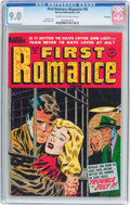 Golden Age (1938-1955):Romance, First Romance Magazine #26 File Copy (Harvey, 1954) CGC VF/NM 9.0Cream to off-white pages....