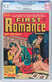 First Romance Magazine #14 File Copy (Harvey, 1952) CGC NM- 9.2 Cream to off-white pages