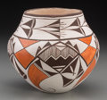 American Indian Art:Pottery, An Acoma Polychrome Jar . Lucy Lewis. c. 1980...