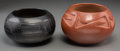 American Indian Art:Pottery, Two San Ildefonso Jars. Maria and Julian Martinez. c. 1930...(Total: 2 Items)