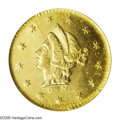California Fractional Gold: , 1853 50C Liberty Round 50 Cents, BG-408, R.6, MS65 NGC. Well strucktypes and smooth fields confirm the high quality of thi...