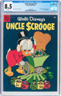 Golden Age (1938-1955):Cartoon Character, Uncle Scrooge #10 (Dell, 1955) CGC VF+ 8.5 Off-white pages....