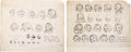 animation art:Model Sheet, Snow White, Tramp, Mickey Mouse and Others Model Sheet Group (Walt Disney, 1930s-50s).... (Total: 10 Items)