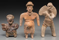 Pre-Columbian:Ceramics, Three West Mexican Figures... (Total: 3 Items)
