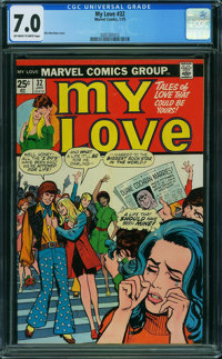My Love (2nd series) #32 (Marvel, 1975) CGC FN/VF 7.0 Off-white to white pages