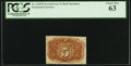 Fractional Currency:Second Issue, Fr. 1232SP 5¢ Second Issue Narrow Margin Back PCGS Choice New 63.. ...