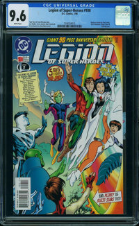 Legion of Super-Heroes #100 (DC, 1998) CGC NM+ 9.6 WHITE pages