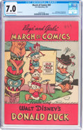 Golden Age (1938-1955):Funny Animal, March of Comics #69 Donald Duck (K. K. Publications, Inc., 1951)CGC FN/VF 7.0 Cream to off-white pages....