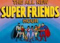 Animation Art:Production Cel, The All New Super Friends Hour Title/Bumper Cel Setup Group(Hanna-Barbera, 1977)....