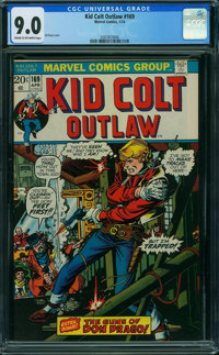 Kid Colt Outlaw #169 (Atlas/Marvel, 1973) CGC VF/NM 9.0 CREAM TO OFF-WHITE pages