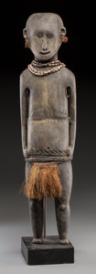 Tribal Art, Unidentified Group, Papua, New Guinea. Standing Male Figure...