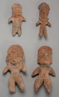 Pre-Columbian:Ceramics, Four Pre-Classic Standing Figures... (Total: 4 Items)