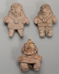 Pre-Columbian:Ceramics, Three Miniature Chupicuaro Figures... (Total: 3 Items)