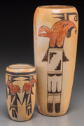 American Indian Art:Pottery, Two Hopi Polychrome Vases... (Total: 2 Items)