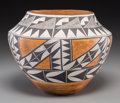 American Indian Art:Pottery, An Acoma Polychrome Jar. ...