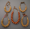 Jewelry:Necklaces, Five Ethnographic Gilt Necklaces... (Total: 5 Items)