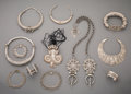 Tribal Art, A Twelve-Piece Middle Eastern and Asian Jewelry Group... (Total: 12Items)