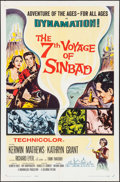 """Movie Posters:Fantasy, The 7th Voyage of Sinbad (Columbia, 1958). One Sheet (27"""" X 41"""").Fantasy.. ..."""