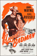 "Movie Posters:Western, Angel and the Badman (Republic, R-1959). Flat Folded One Sheet (27"" X 41""). Western.. ..."
