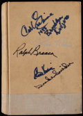 Baseball Collectibles:Publications, Roger Kahn's The Boys of Summer Multi-Signed Book (4Signatures)....