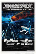"Movie Posters:Science Fiction, When Worlds Collide/The War of the Worlds Combo (Paramount,R-1977). One Sheet (27"" X 41""). Science Fiction.. ..."
