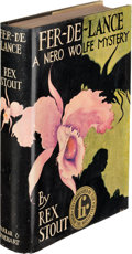 Books:Mystery & Detective Fiction, Rex Stout. Fer-De-Lance. A Nero Wolfe Mystery. New York: Farrar & Rinehart, [1934]. First edition....