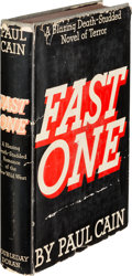 Books:Mystery & Detective Fiction, Paul Cain (pseudonym for George C. Sims). Fast One. GardenCity: Doubleday, Doran & Company, 1933. First edition....