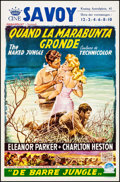 "Movie Posters:Adventure, The Naked Jungle (Paramount, 1954). Belgian (14"" X 21.5"").Adventure.. ..."