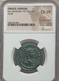 Ancients:Roman Provincial , Ancients: MOESIA INFERIOR. Odessus. Severus Alexander (AD 222-235).NGC Choice VF, lt. smoothing....