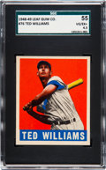 Baseball Cards:Singles (1940-1949), 1948 Leaf Ted Williams #76 SGC 55 VG/EX+ 4.5....