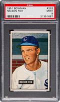 Baseball Cards:Singles (1950-1959), 1951 Bowman Nellie Fox #232 PSA Mint 9 - Only One Higher....