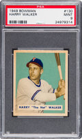 Baseball Cards:Singles (1940-1949), 1949 Bowman Harry Walker #130 PSA Mint 9 - None Higher....