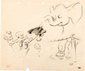 Animation Art:Concept Art, Dumbo Concept Drawings Group of 4 (Walt Disney, 1941)....(Total: 4 Original Art)