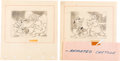 Animation Art:Production Drawing, The Reluctant Dragon Robert Benchley Storyboard DrawingsGroup of 5 (Walt Disney, 1942). ... (Total: 5 Original Art)