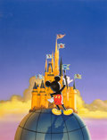 "Animation Art:Production Drawing, Mickey Mouse ""ABC"" Illustration (Walt Disney, 1996)...."