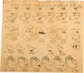 animation art:Model Sheet, Crusader Rabbit Model Sheet and Animation Drawing Group(Creston Studios, 1959).... (Total: 9 Items)