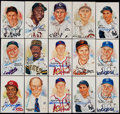 Autographs:Index Cards, 1981-2001 Perez-Steele Signed Postcards Lot of 23. ...