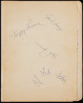 Basketball Collectibles:Others, 1959 New York Knicks Signed Sheets. ...