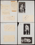 Basketball Collectibles:Others, 1959 Detroit Pistons Signed Sheets...