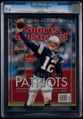 """Football Collectibles:Publications, 2004 Tom Brady """"Sports Illustrated"""" Magazine CGC 9.6 - None Higher...."""