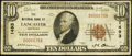National Bank Notes:Kentucky, Lancaster, KY - $10 1929 Ty. 1 The NB of Lancaster Ch. # 1493. ...
